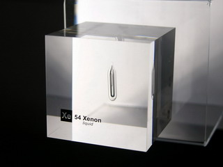 smart-elements - Acrylic Element cube - Xenon (liquified) Xe - 50mm