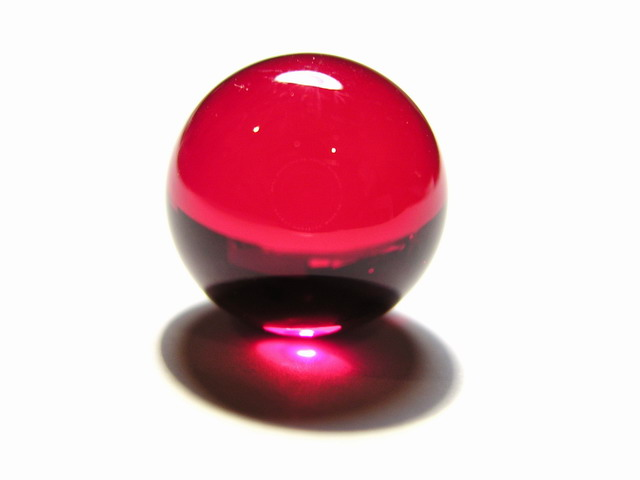 smart-elements - Ruby ball / lense 16mm diameter with optical polish